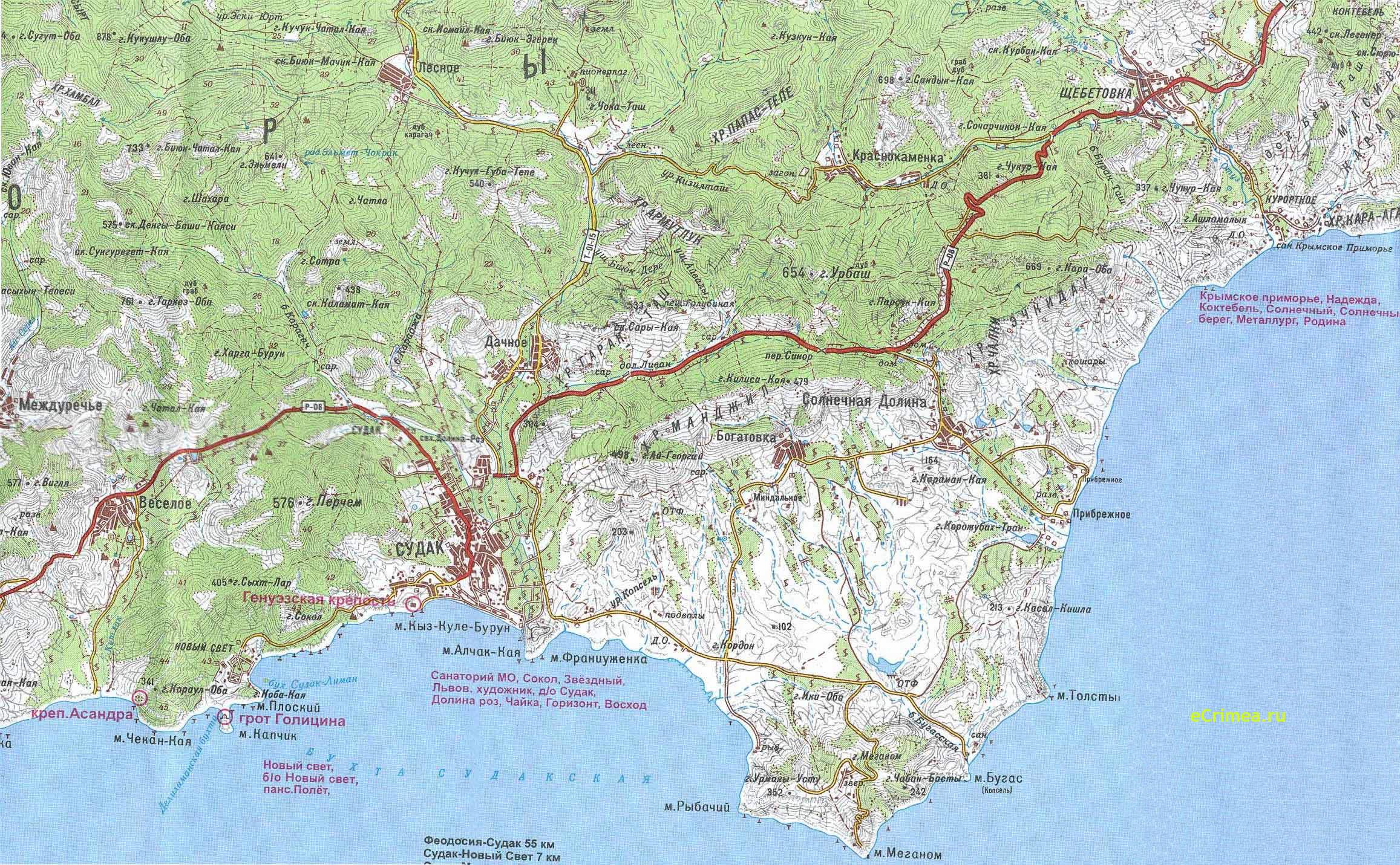 Карта судака карта судак карта