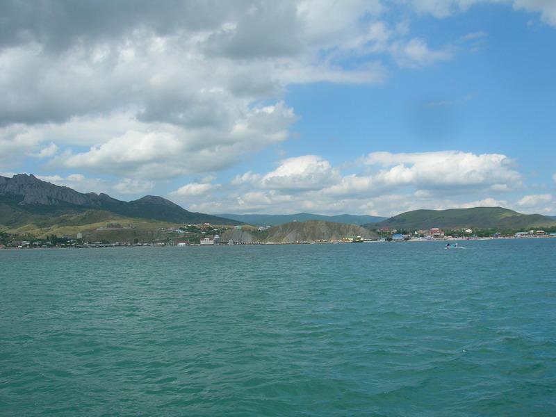 Коктебельская бухта вид с моря